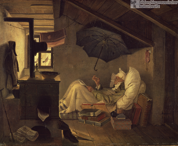 Carl Spitzweg, <I>The Poor Poet</i> (1839)