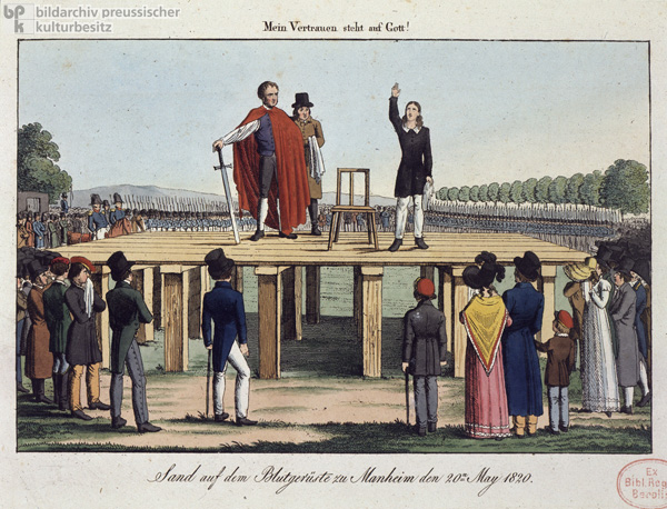 Karl Ludwig Sand on the Scaffold in Mannheim (May 20, 1820)