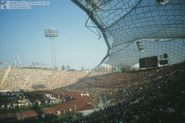 Opening Ceremony of the Olympic Games in Munich's Olympic Stadium (August 26, 1972)