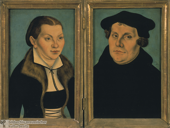 Martin Luther and his Wife (1529)