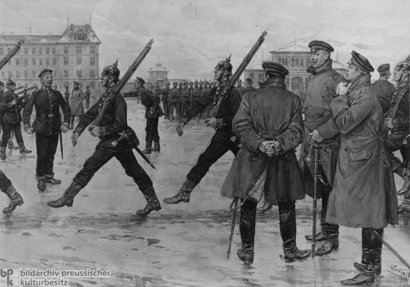 Military Exercises for Prussian Recruits (c. 1880)