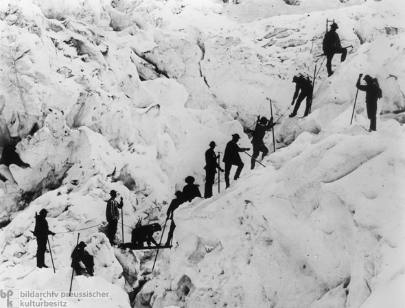 Hiking a Glacier (c. 1890)