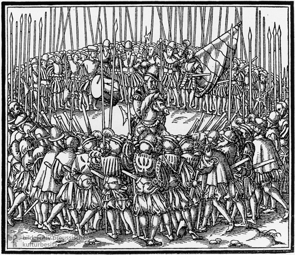The Swearing in of the Lansquenets (1555)