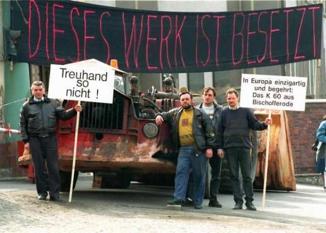 Potash Miners on Strike in Bischofferode (Thuringia) (April 9, 1993)
