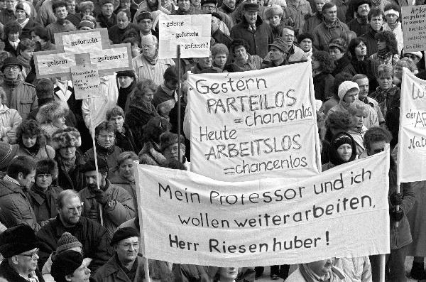 East German Academics Demonstrate in Berlin (February 12, 1991)