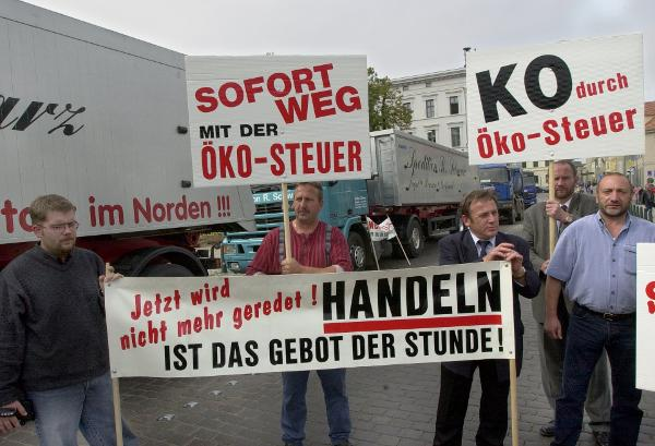 Truck Blockade in Schwerin (September 13, 2000)