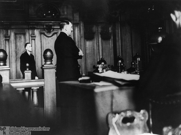 Hitler on the Witness Stand at the Reich Court in Leipzig (September 25, 1930)