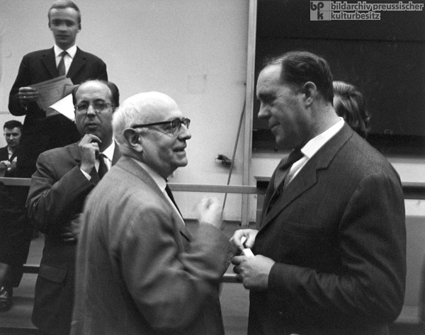 Theodor Adorno (left) and Heinrich Böll on the Occasion of Böll's