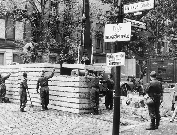 Replacement of the Stone Wall with a Concrete Wall (July 1, 1963)