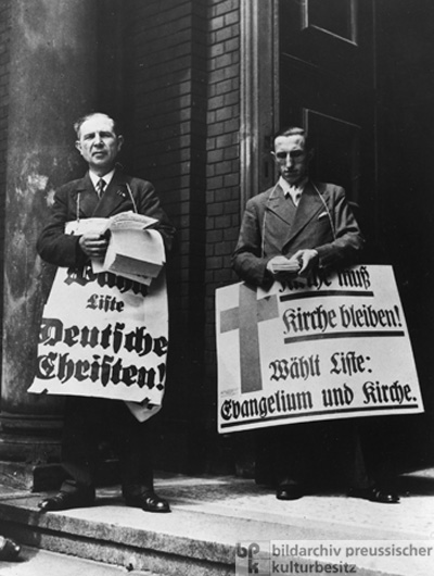 Election Propaganda on the Church Steps – the Church Elections in Berlin (July 1933)