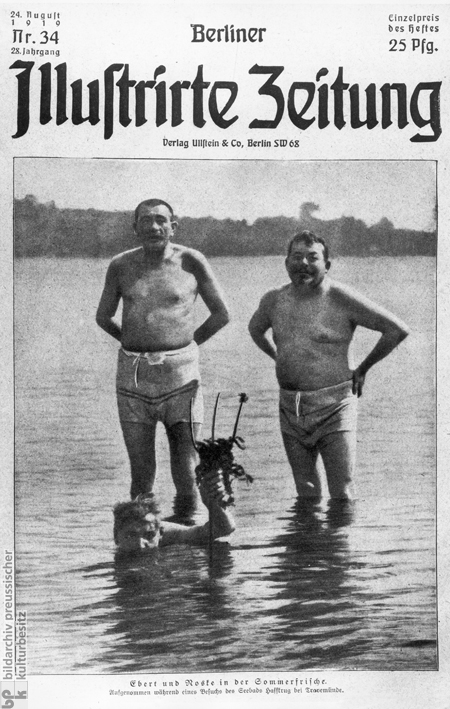 Cover of the <i>Berliner Illustrierte Zeitung</i>: Ebert and Noske on Summer Holiday (August 1919)