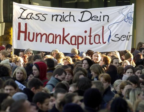 Protest against University Reform in Leipzig (January 8, 2004)