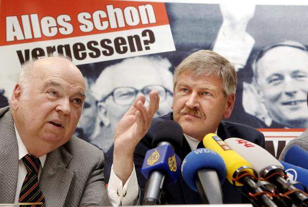 Right-Wing Extremist Parties Present their Campaign Posters for the 2005 Bundestag Elections (August 4, 2005)