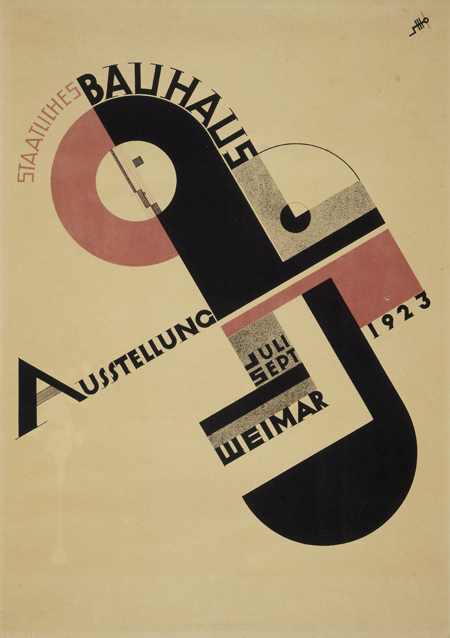 Poster for Bauhaus Exhibition in Weimar (1923)