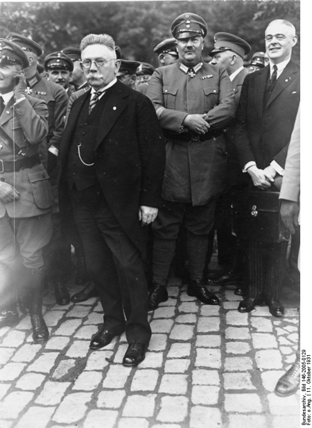 "Alfred Hugenberg at the Founding of the ""Harzburg Front"" in Bad Harzburg (October 11, 1931)"