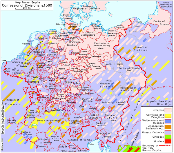 Map Of Europe 1560.Ghdi Map