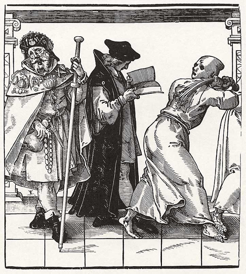 Church Hierarchy: Pilgrim, Vicar, and Flagellant (2nd Half of the 16th Century)