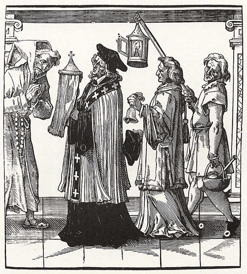 Church Hierarchy: Priest, Deacon, Acolyte (2nd Half of the 16th Century)