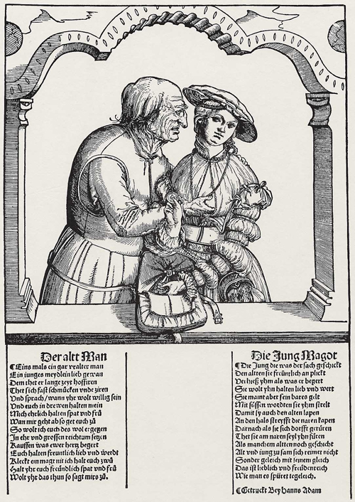Old Man with a Young Woman (1st Half of the 16th Century)