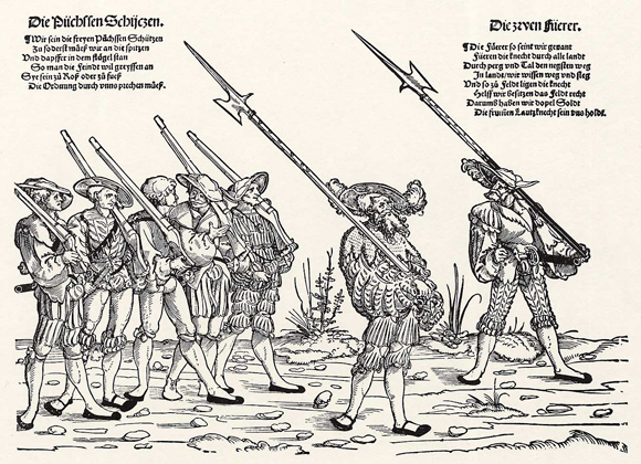 Lansquenets on the March (1st Half of the 16th Century)