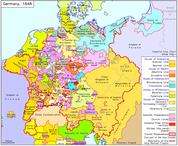 Germany with Imperial and other Cities (1648)
