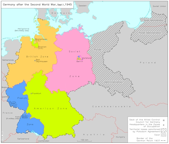 Ghdi map germany after the second world war september 1 1945 gumiabroncs Choice Image
