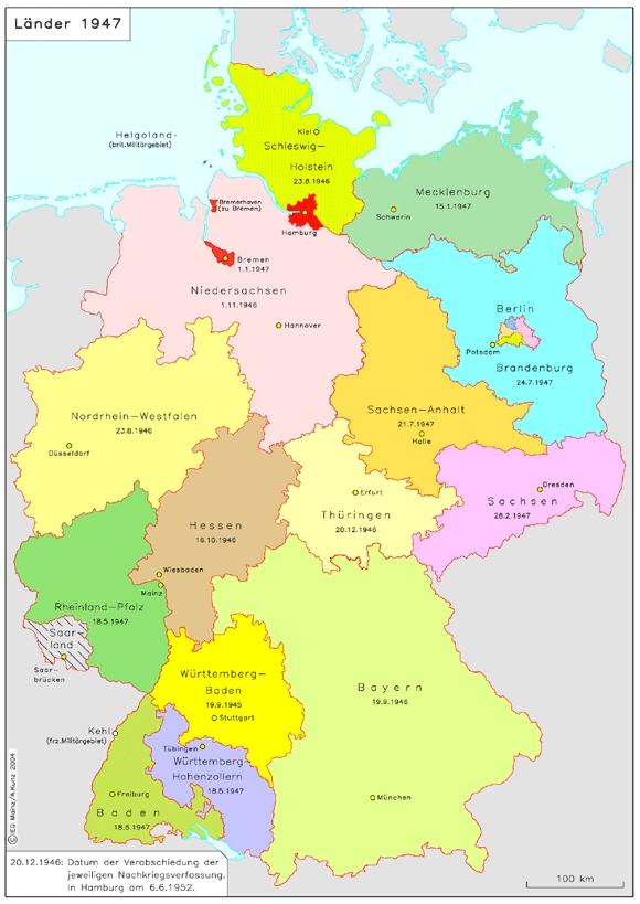 Deutschland liste hauptstadt bundesländer mit Deutsche Bundesländer: