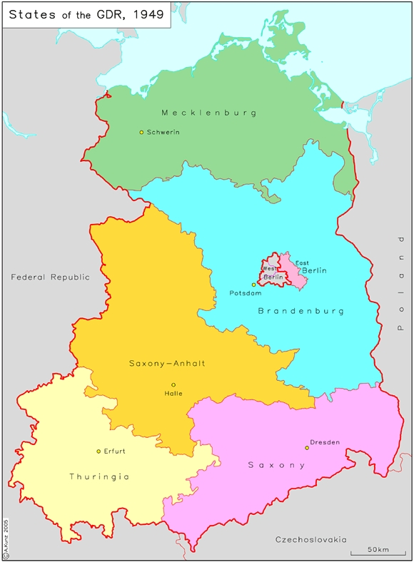 States [Länder] of the German Democratic Republic (1949)