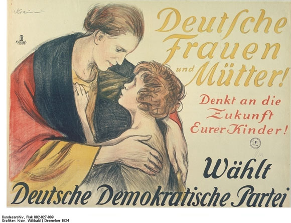 German Democratic Party (DDP) Election Poster (1924)