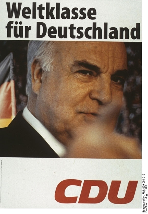 """World Class for Germany"": CDU Campaign Poster (1998)"