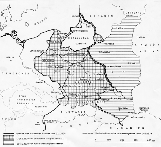 German-Soviet Boundary and Friendship Treaty – The New Borders after the Division of Poland (September 28, 1939)