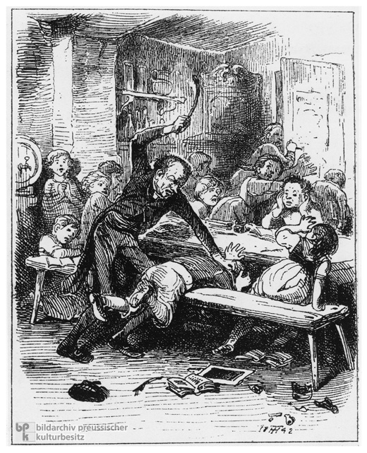A Teacher Administers a Beating (1842)