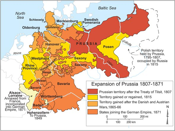Expansion of Prussia, 1807-1871