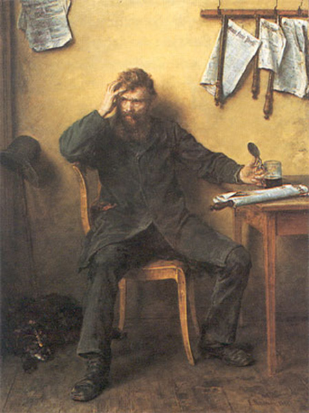 Ludwig Knaus, <i>The Dissatisfied One</i> [<i>Der Unzufriedene</i>] (1877)