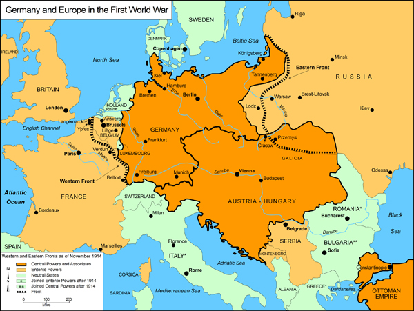 germany and europe in the first world war 1914 1918