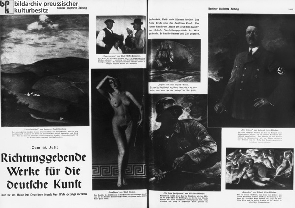 "First ""Great German Art Exhibition"": ""Works that are Setting the Direction of German Art"" (July 18, 1937)"