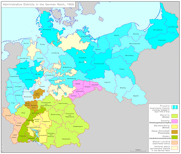 Map Of Germany Regions.Ghdi Map