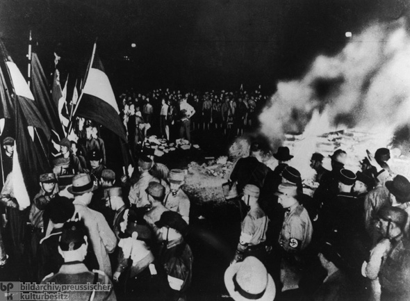 Against the Un-German Spirit: Book-Burning Ceremony in Berlin (Image 1) (May 10, 1933)