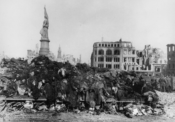 Dresden in the Aftermath of Allied Bombing (February 13-14, 1945)