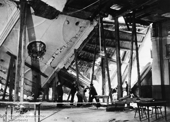 The Destroyed Beer Hall after the Assassination Attempt on Hitler (November 9, 1939)