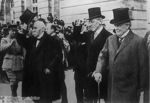 The Big Three of Versailles: Georges Clemenceau, Woodrow Wilson, and David Lloyd George (1919)