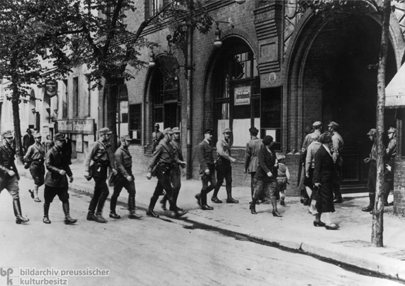 Prohibition of Free Trade-Unions: SA Members Seize the Union Office on Engelufer in Berlin (May 2, 1933)
