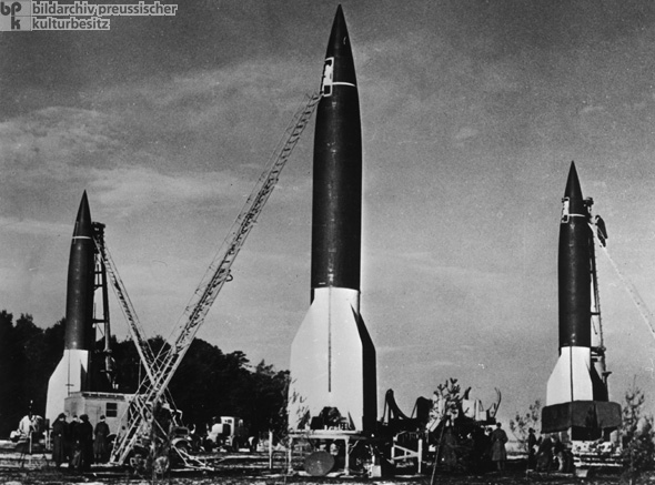 Preparations for a Salvo Launch of V-2 Rockets in the So-Called Heidelager near Blizna (Poland) (1944)
