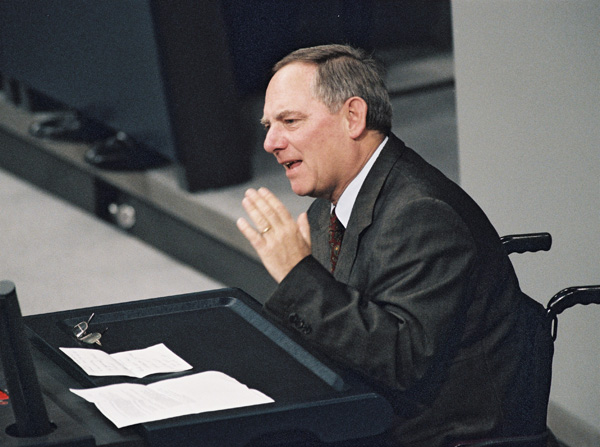 Wolfgang Schäuble during the Bundestag Debate on the CDU Donations Scandal (January 20, 2000)