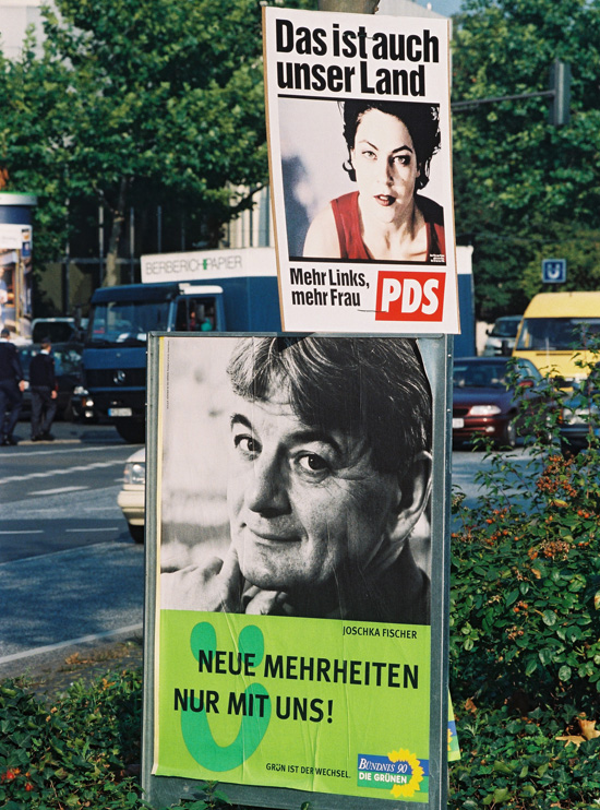 Campaign Posters for Alliance 90/The Greens and the PDS (August 10, 1998)