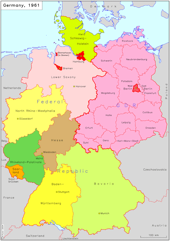 the federal republic of germany and the german democratic republic 1961