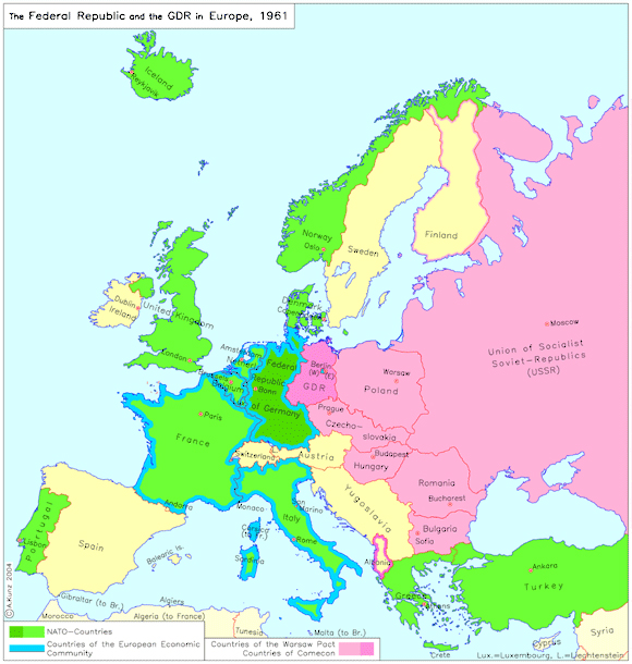 the federal republic of germany and the german democratic republic in europe 1961