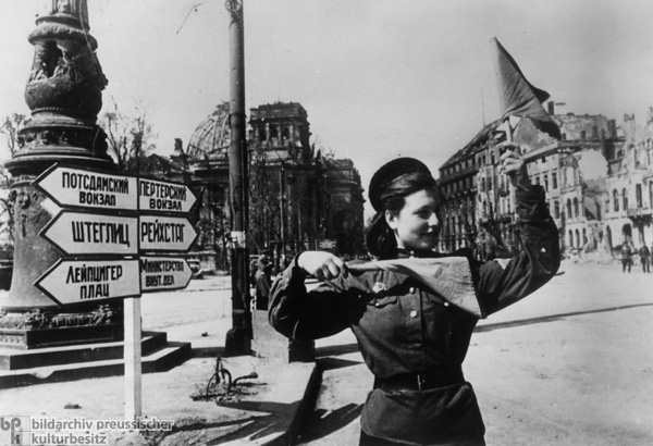 Directing Traffic in Postwar Berlin (1945)